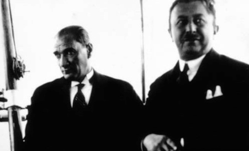 Mustafa Kemal Atatürk and Mehmet Şükrü Kaya